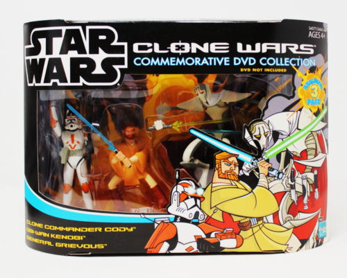 Volume 2 Pack 2 (2005 Wal-Mart Exclusive) Clone Commander Cody, Obi-Wan Kenobi & General Grievous