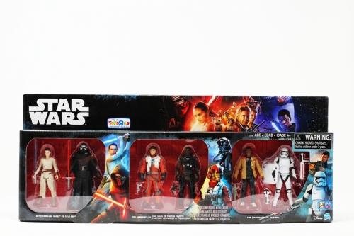 Toy´s R Us 6 Pack (rey,Kylo,Poe, Tie,finn, Stormtrooper)