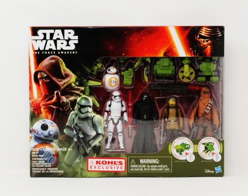Khol´s Exclusive Pack( BB-8,Kylo, Finn, Chewbacca)