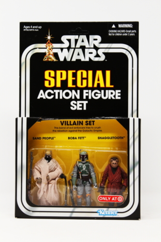 Vintage 3-Pack (Villain Set - 2012): Sand People, Boba Fett, Snaggletooth (Target)